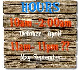 Business Hours: 10am-2am (October-April) and 11am-11pm (May-September)